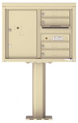 1 to 7 Tenant Door 4C Series Pedestal Mounted Mailboxes - NEW High Security (Includes Pedestal)