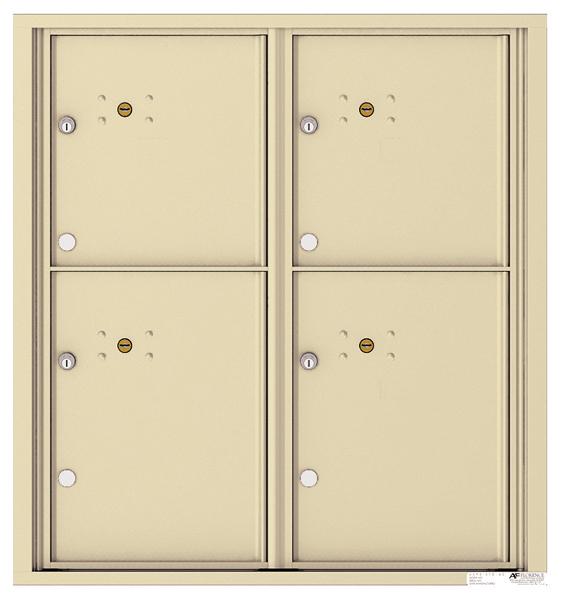 4 Parcel Locker Door Unit 4c Wall Mount Horizontal 9