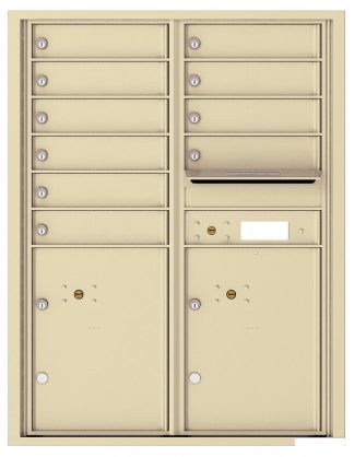 NEW 4C Horizontal Wall Mount High Security Mailboxes - USPS Approved