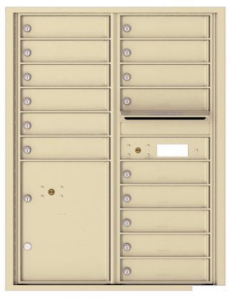 8 to 15 Tenant Doors 4C Wall Mount Horizontal Mailboxes - USPS Approved