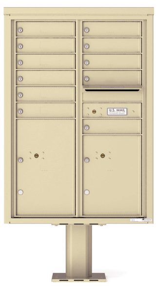 8 to 15 Tenant Door 4C Pedestal Mailboxes - USPS Approved