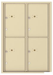 NEW 4C Horizontal Wall Mount Parcel Lockers - For Packages Only - High Security - USPS Approved