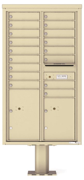 16 to 29 Tenant Door 4C Pedestal Mailboxes - USPS Approved