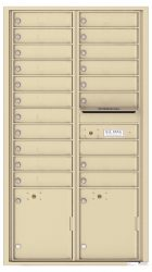 16 to 29 Tenant Doors 4C Horizontal Wall Mount Mailboxes – NEW High Security - USPS Approved