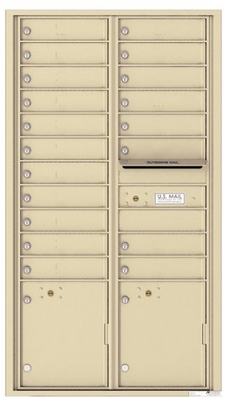 16 to 29 Tenant Doors 4C Wall Mount Horizontal Mailboxes - USPS Approved