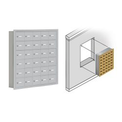 Recessed Mount Cell Phone Lockers (Wall Mount)