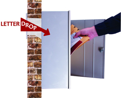 Letter Drop Mail Drop With Wall Mount Aluminum Collection