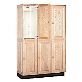Solid Oak Executive Lockers