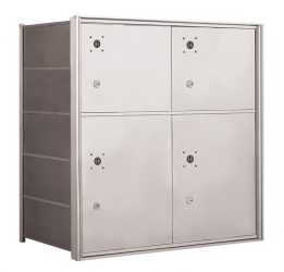 In-Wall Mounted Parcel Lockers for Standard Horizontal Mailboxes – For Packages Only – USPS Approved