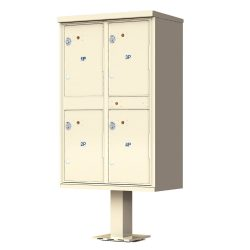 Outdoor High Security Pedestal Type Parcel Lockers - USPS Approved - For Packages Only