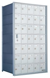 Private Distribution Wall Mount Horizontal Mailboxes - Front Loading - For Private Use/Access