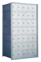 Private Distribution Wall Mount Horizontal Mailboxes - Rear Loading - For Private Use/Access