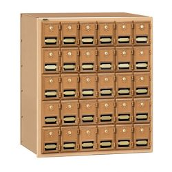 Brass Wall Mount Horizontal Mailboxes - For Private Use/Access