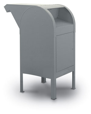 Curbside Outdoor Steel Collection Boxes for Private Use/Access