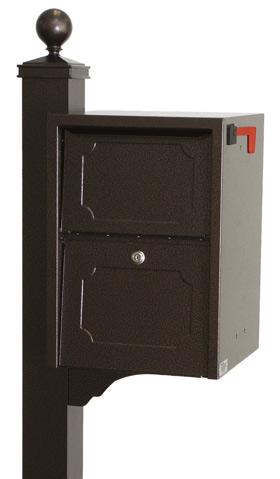 Delivery Vault Junior Post Mount Mailboxes (USPS Approved)