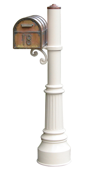 Streetscape Decorative Brass Residential Post Mount Mailboxes (USPS Approved)