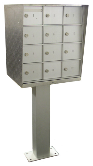 Cell Phone 12-Door Storage Locker with Included Pedestal - H15802P