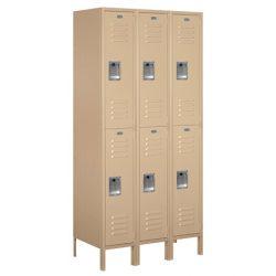 "12"" Wide Double Tier Standard Metal Lockers"