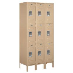 """12"""" Wide Triple Tier Standard Metal Lockers"""