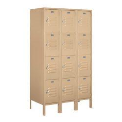 "12"" Wide Four Tier Standard Metal Lockers"