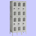 Double Tier Extra Wide Vented Lockers