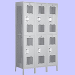 Triple Tier Extra Wide Vented Lockers