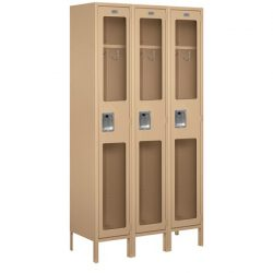 "15"" Wide See-Through Metal Lockers"