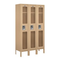 "12"" Wide See-Through Metal Lockers"