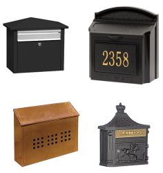Wall Mount Type Residential Mailboxes - USPS Approved