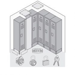 See-Through Metal Locker Options & Locks