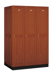 Solid Oak Executive Wood Lockers