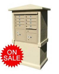 Decorative Stucco Column Enclosure Style NEW High Security Cluster Box Units (CBU) - USPS Approved