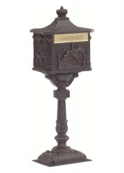 Victorian Pedestal Locking Mailbox (USPS Approved)