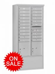 NEW Freestanding Mail Stand Enclosures with 4C Horizontal Mailboxes – High Security Type (USPS Approved)