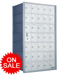 Private Distribution Wall Mount Horizontal Mailboxes - For Private Use/Access