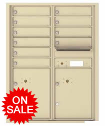 NEW 4C Horizontal Wall Mount High Security Commercial Mailboxes - USPS Approved