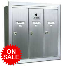 Standard Vertical Wall Mount Mailboxes - USPS Approved for Replacement