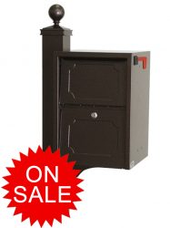 Delivery Vault Junior Post Mount Collection Mailboxes