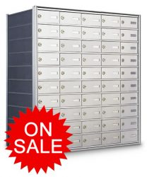 Horizontal Wall Mount Mailboxes for Private Use/Access