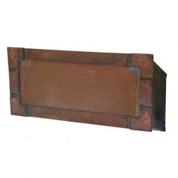 Streetscape Executive Brass In-Wall Mount Mail Slot
