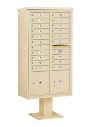 16 to 29 Tenant Door 4C Series Pedestal Mounted Mailboxes - NEW High Security (Includes Pedestal)