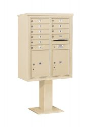 8 to 15 Tenant Door 4C Series Pedestal Mounted Mailboxes - NEW High Security (Includes Pedestal)