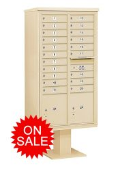 NEW 4C Pedestal Mounted High Security Type Commercial Mailboxes