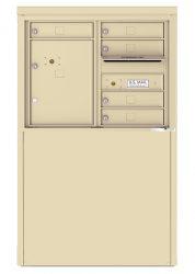 1 to 7 Tenant Doors - Freestanding Depot Enclosure with 4C Horizontal Mailboxes