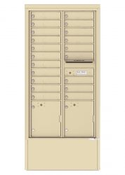 Freestanding Depot Enclosure with 4C Horizontal Mailboxes