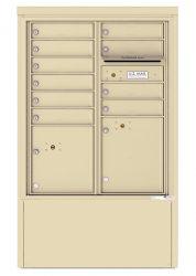 8 to 15 Tenant Doors - Freestanding Depot Enclosure with 4C Horizontal Mailboxes
