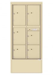 Freestanding Depot Enclosure with 4C Horizontal Parcel Locker Units - High Security Type (USPS Approved)