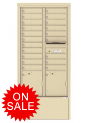NEW Freestanding Depot Enclosure with 4C Horizontal Mailboxes - High Security Type (USPS Approved)