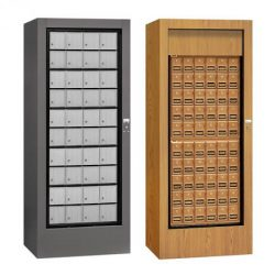 Freestanding Rotary Mailboxes with Enclosures for Private Use/Access