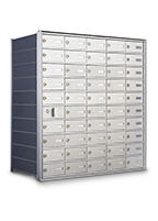 Horizontal Wall Mount Mailboxes for Private Use/Access (Front Loading Style)